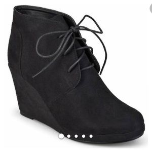 Charlotte Russe Black Lace up Wedge Ankle Bootie10